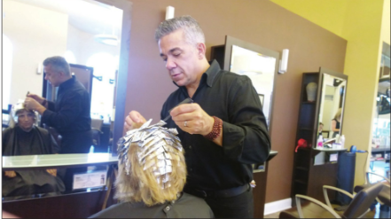 Michael of Michael Leonard's AVEDA Concept Hair Salon
