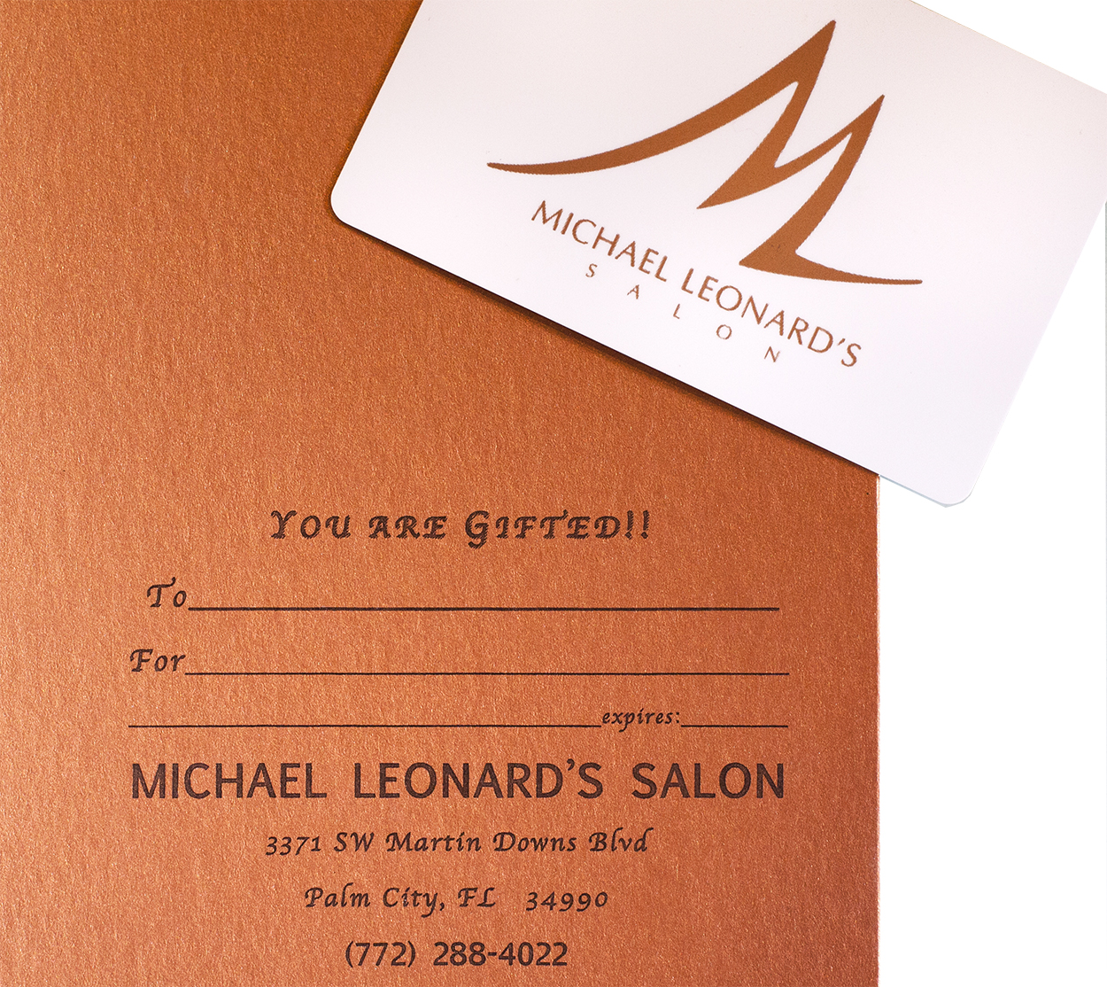 """gift cards from Michael Leonard""""s"""